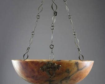 French Alabaster Ceiling Chandelier