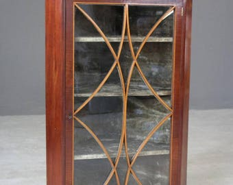 Antique Astragal Glazed Corner Cabinet