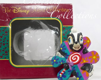 Disney Flower Ornament Bambi Disney Artist Collection Christmas The Skunk Vintage Collection MIB