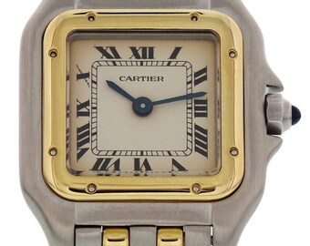Ladies Cartier Panthere 18k Yellow Gold & Steel