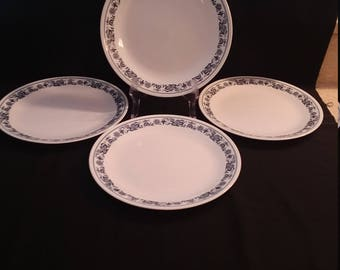 4 Piece Corelle Old Town Blue Onion Dinner Plates