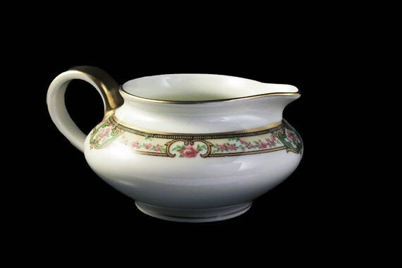 Antique Creamer, Theodore Haviland, Limoges France, The Belfort, Hard To Find, Floral Pattern, Gold Trimmed, Antique Pitcher