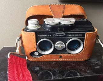 Vintage VIEWMASTER STEREO CAMERA, 1950s View-Master Personal Stereo Camera, 3-D View-Master Camera, 3-D Reel, Collectible View Master Camera