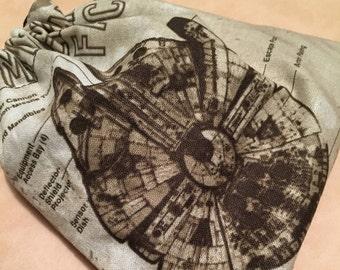 Millennium Falcon Drawstring Bag