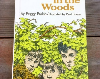 Clues In The Woods by Peggy Parish Illustrated by Paul Frame Hardcover 1968