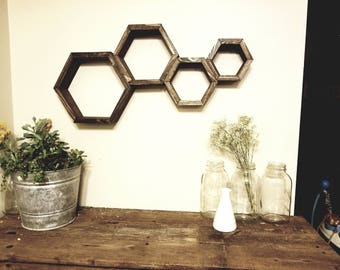 Happy Hive Wall Shelves