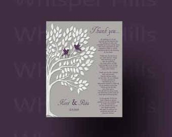 Parents wedding Gift, Personalized Parent's Poem, Thank You Parent's Gift, Wedding Day Gifts for Our Parents, Thank You Poem for Mom and Dad