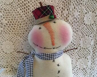 Primitive Snowman/Christmas/Winter decor    HANDMADE          (FAAP)