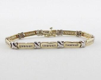 Diamond Tennis Bracelet 14k Yellow And White Gold 7 Inches 1.00 carat