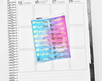 Foil Laundry Multi Color Planner Stickers