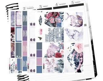 Majestic Mountain Full Planner Sticker Kit, 6 Sheets