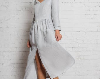 Venus Linen Dress | Cerulean Blue