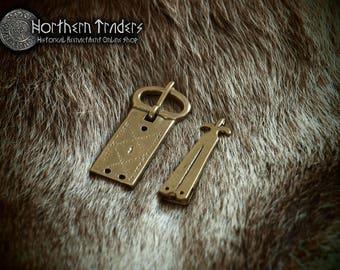 Medieval buckle and belt end
