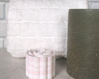 Geranium Bath Bomb, Essential Oil Bath Bomb, All Natural Bath Bomb, Rose Bath Fizzie, Geranium Essential Oil, Rose Bath Bomb, 2oz