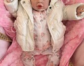 NEW!  Reborn baby doll girl Kyra 22 5lb 4oz rooted eyelashes 34 limbs heat paints real realistic childrens doll my fake baby painted hair
