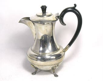 Vintage Silver Plated Teapot with Bakelite Handles/Sheffield Silver Plate/T. Land and Sons Sheffield/Plated Dining/Plated Pot/Bakelite Decor