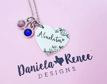 Abuela Necklace  • Grandma Necklace • I love my Grandma • Abuelita • Best Grandma Ever • Nana Necklace • Mother's Day gift • Godmother