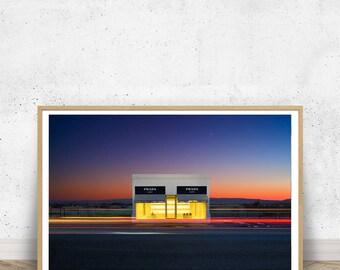 Prada Marfa Fine Art PRINT, Texas Photography, Marfa Texas, Wall Art, Home Decor, Gift for Her, Artwork, Large Wall Print, Prada, Fashion