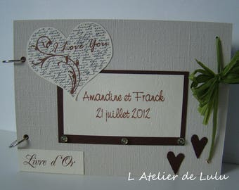 Guest book for wedding 'i love you'