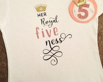 Girls 5th Birthday T-shirt