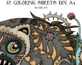 The Hidden Track - 12 coloring sheets