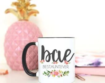 BAE.Best Auntie Ever/Auntie/New baby/Aunt mug/Aunt coffee mug/coffee mug/coffee cup/mug/cute mug/Pregnancy Announement