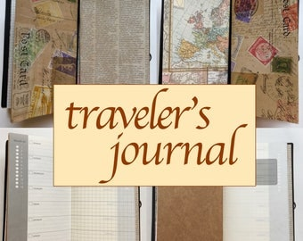 Traveler's Journal, Notebook, Sketchbook + MORE! Perfect for your next adventure