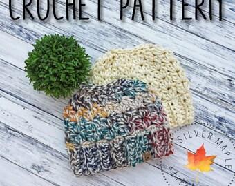 MESSY BUN HAT Pattern Crochet Pattern Crochet Hat Pattern Messy Bun Beanie Ponytail Hat Bun Hat Pattern Edgewater Beanie Winter Hat Pdf