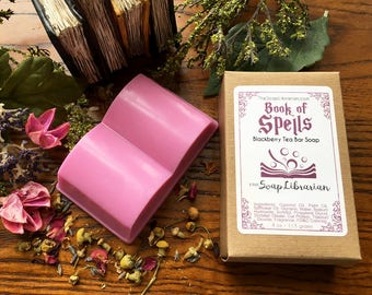 Book of Spells Bar Soap - Book Lovers Gift, Library Gift - Handmade Soap