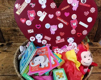 Loving Puppies Valentines Day Basket