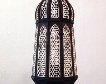 "Wooden Oriental Lamp ""Samar"" - different colors"