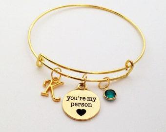 You're My Person Bracelet, You're My Person, Girlfriend, Best Friend, Wife, Grey's Anatomy, Girlfriend Gift, Best Friend Gift, Personalize