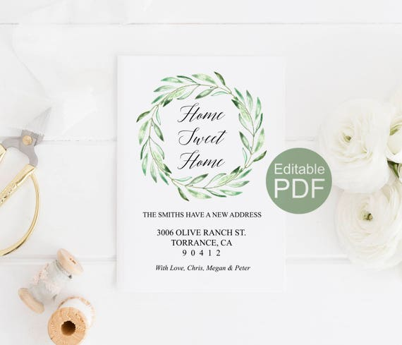 Rustic moving announcement template change of address card il570xn maxwellsz