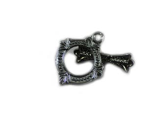 Toggle Clasp Antique Detail Lead Free Gunmetal 18x15mm Set of 4