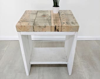 Rustic Reclaimed Scaffold Board Bedside Table LAUAKE