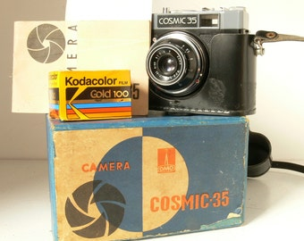 Lomo Cosmic 35 (Smena 8) Camera Gift Set - Russian Made - Vintage Film Camera - With Film
