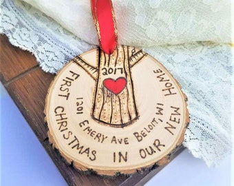 New home ornament, first christmas new home, housewarming gift, new house ornament, first house ornament, wood ornament, first home ornament