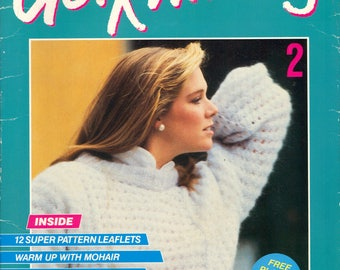 80s Get Knitting Issue 2: 12 Knit Patterns with Free Protective Plastic Wallet and 24 page Comprehensive Instructional Guide