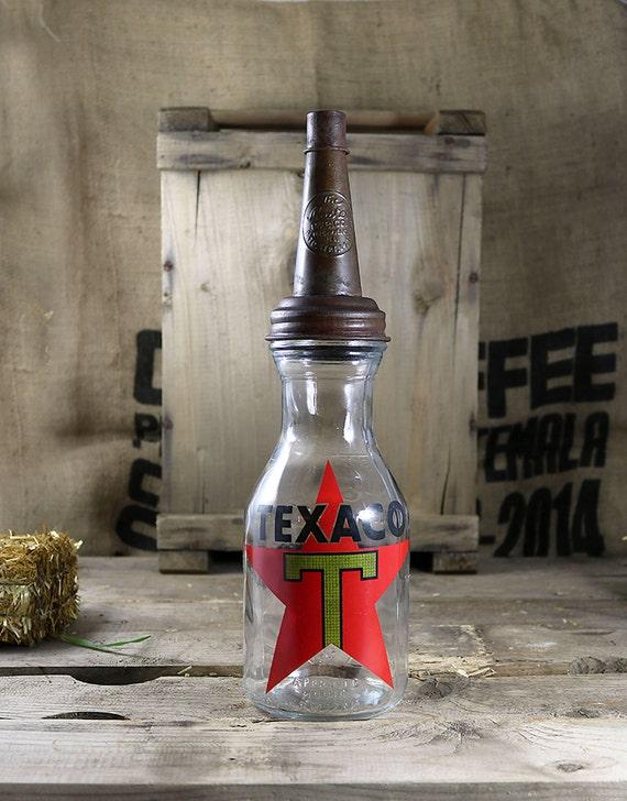Vintage style Texaco Oil Bottle, Vintage Bottle, Texaco advertisement, Antique Oil Bottle, Dug Bottle, Collectible Bottles, Oil Bottle,