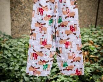 Christmas Moose Pajama Pants