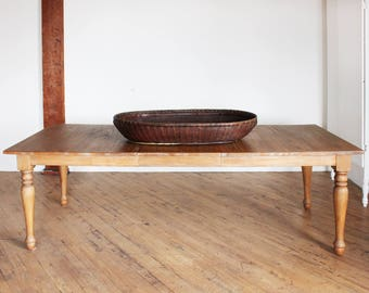 Large Antique Chinese Basket - Hand Woven Bamboo and Willow