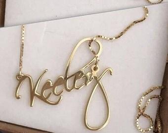 Evening dress necklace nameplate