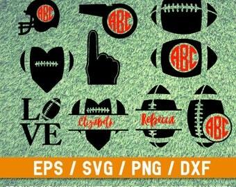 American Football SVG, Football svg, Football Monogram SVG,American Football cut file,Helmet svg,American Football bundle,Football Monogram