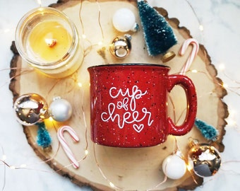 Cup of Cheer / Winter / Red Campfire Mug