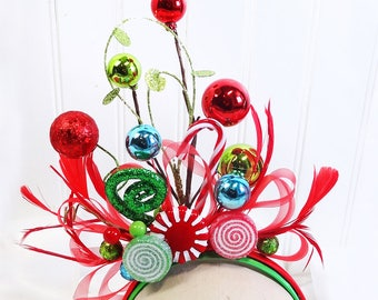 christmas headband adult, ugly christmas sweater for women, ugly sweater party, womens, whoville headband, whoville costume, adult headdress