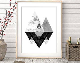 Wall Art Prints, Instant Download Printable Art, Black and White Prints, Geometric Modern Art, Black and White Art, Wall Prints, Wall Decor