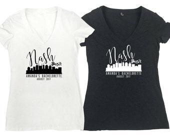 Nash Bash Bridal Party Combo Bachelorette Shirts Bridesmaids