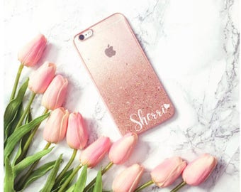 Rose Gold Glitter Phone case iPhone 8 case iPhone 8 PLUS case iPhone X case iPhone 10 case iPhone case iPhone 7 plus case iphone 7 case
