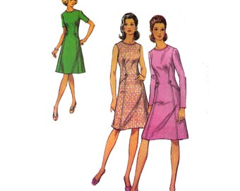 Style 3759, 70s sewing pattern, size 14 bust 36 womens' fitted dress, princess seams, fit and flare dress