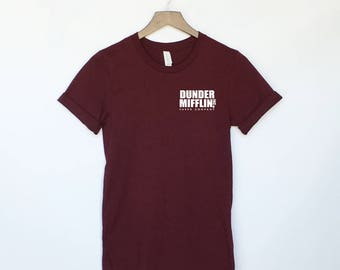 Dunder Mifflin Paper Co Pocket T-Shirt - The Office Tee - The Office Shirt - The Office Sweatshirt - Michael Scott - TV Series - Dwight